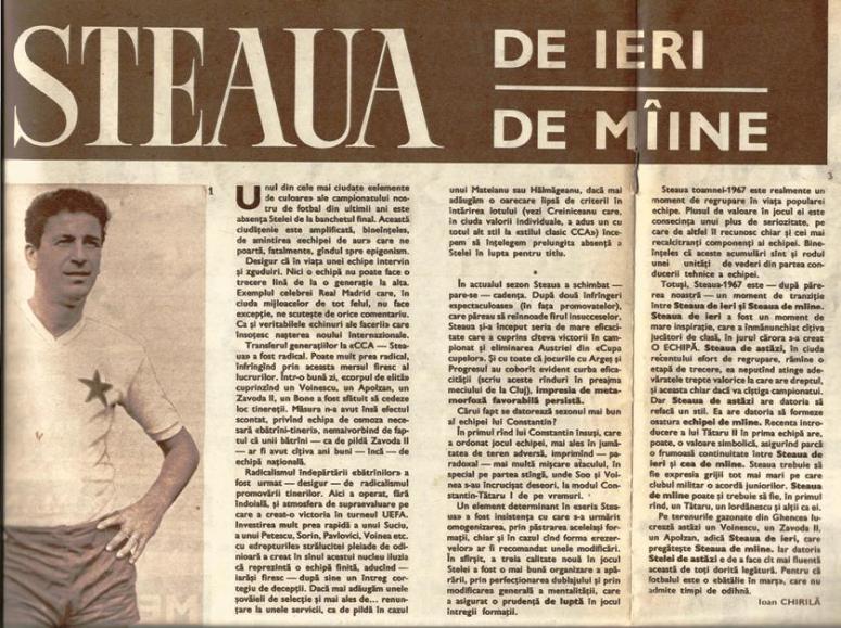 Ioan Chirila articol din noiembrie 1967