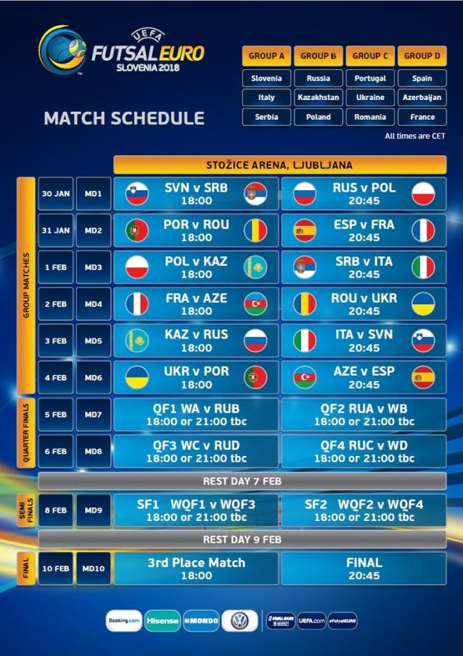 Program UEFA Futsal Euro